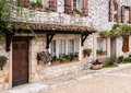 Stone house old in a village in france Royalty Free Stock Photo