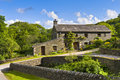 Stone House set in Countryside Royalty Free Stock Photos