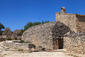 Stone huts in luberon near gordes france Stock Images