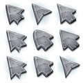 Stone Icons, Cursor And Arrows Royalty Free Stock Photo