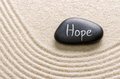 A stone with the inscription hope black Royalty Free Stock Image
