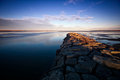 Stone Jetty on the Ottawa River Royalty Free Stock Photography