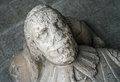 Stone king carved sandstone s head on the outside of bakewell church Stock Photography