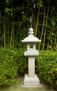 Stone lantern with bamboo in background a japanese garden Royalty Free Stock Images