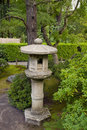 Stone Lantern at Japanese Garden 3 Royalty Free Stock Photography