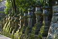 Stone lanterns Kasuga Taisha Shrine Nara Japan Stock Photos