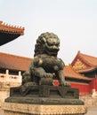 Stone lion of china Royalty Free Stock Photography