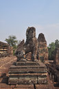 Stone lion of pre rup temple in cambodia asia Royalty Free Stock Photography