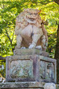 Stone lion sculpture at yasaka jinja in kyoto japanese Stock Photo