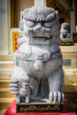 Stone lions guarding Royalty Free Stock Photo