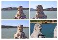 Stone lions Royalty Free Stock Photo