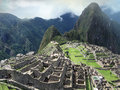 Stone masonry architecture of Machu Picchu. Peru Royalty Free Stock Photo