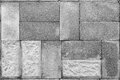 Stone masonry, monochrome Stock Photo