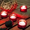 Stone massage with soft lighting Stock Photo
