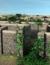Stone Maze Entrance Or Exit Il...