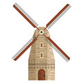 Stone mill on isolated white background. Vector illustration