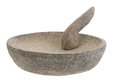 Stone mortar and pestle Royalty Free Stock Photo
