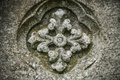 Stone motif floral carved in limestone Royalty Free Stock Photography