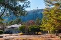 Stone Mountain and pine trees, Georgia, USA Royalty Free Stock Photo