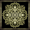 Stone mystic symbol celtic style decorative star in yellow tones Royalty Free Stock Photo