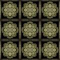 Stone mystic symbol pattern celtic style decorative star in yellow tones Stock Photos