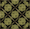 Stone mystic symbol pattern celtic style decorative star in yellow tones Stock Photography