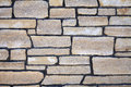 Stone Natural Cobble Ledge Field wall closeup detail Royalty Free Stock Photo