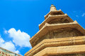 Stone pagoda on blue sky bangkok thailand Royalty Free Stock Photography