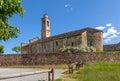 Stone parish church in Italy. Royalty Free Stock Photo