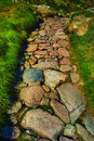 Stone path in mountains Royalty Free Stock Photo