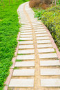Stone path in the park Royalty Free Stock Photo