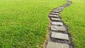 Stone path in the park Royalty Free Stock Photography