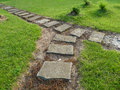 Stone path in the park Stock Photography