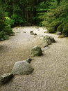Stone pathway in the forest Royalty Free Stock Image