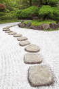 Stone pathway japan zen in a garden Royalty Free Stock Image