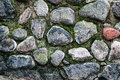 Stone pavement as an abstract background Royalty Free Stock Photography