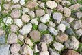 Stone pavement beautiful photo of old natural background Royalty Free Stock Image