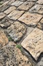 Stone pavement detail and perspective in in Stock Image