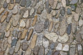 Stone pavement mixture of shapes and colors background Royalty Free Stock Photography