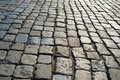 Stone pavement in perspective. grey block texture Royalty Free Stock Photo