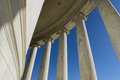 Stone pillars on the jefferson memorial Stock Image