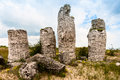 Stone pillars near the city of varna in bulgaria unique natural creation Royalty Free Stock Photo