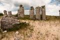 Stone pillars near the city of varna in bulgaria unique natural creation Stock Photos