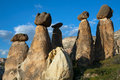 Stone pillars with top hats. Royalty Free Stock Photo