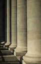 Stone pillars at the vatican Stock Image