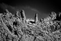 Stone planet surface black and white Royalty Free Stock Photo