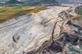 Stone quarry aerial helicopter shoot of the on the sunny summer morning Stock Images