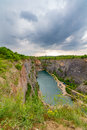 Stone quarry called Big America (Velka Amerika) near Prague, Czech Republic Royalty Free Stock Photo