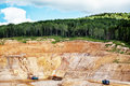 Stone quarry a dangerous is to a city Stock Images