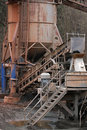 Stone quarry with silos and conveyor Royalty Free Stock Photos